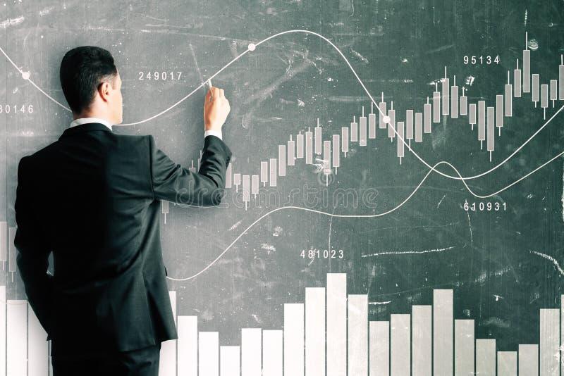 Conceito do comércio e do seminário ilustração stock