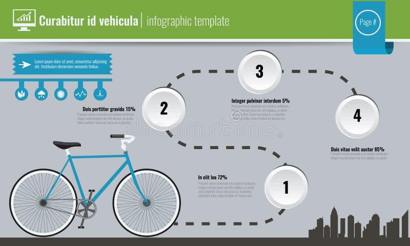Conceito do conceito da ecologia ou do dia de ambiente de mundo infographic Ilustração do vetor ilustração stock
