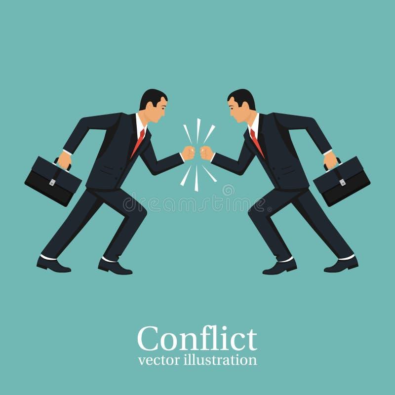 Conceito do conflito do negócio ilustração do vetor