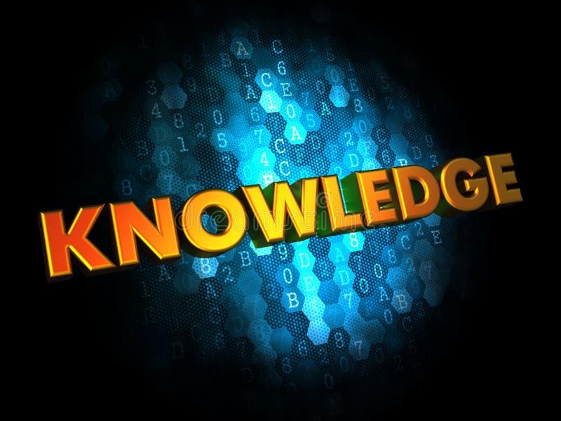 Conceito do conhecimento no fundo de Digitas. imagens de stock royalty free