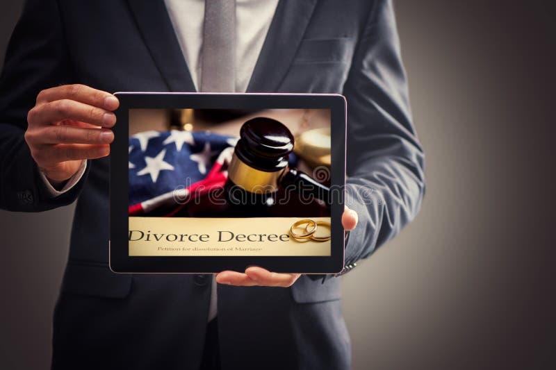 Conceito do conselho do divórcio fotografia de stock