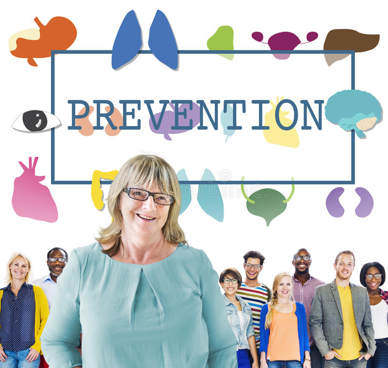 Conceito do controle médico da prevenção do tratamento dos cuidados médicos foto de stock