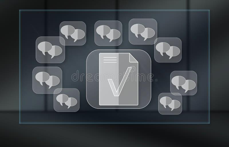 Conceito do controle do ?ndice de mensagem imagens de stock royalty free