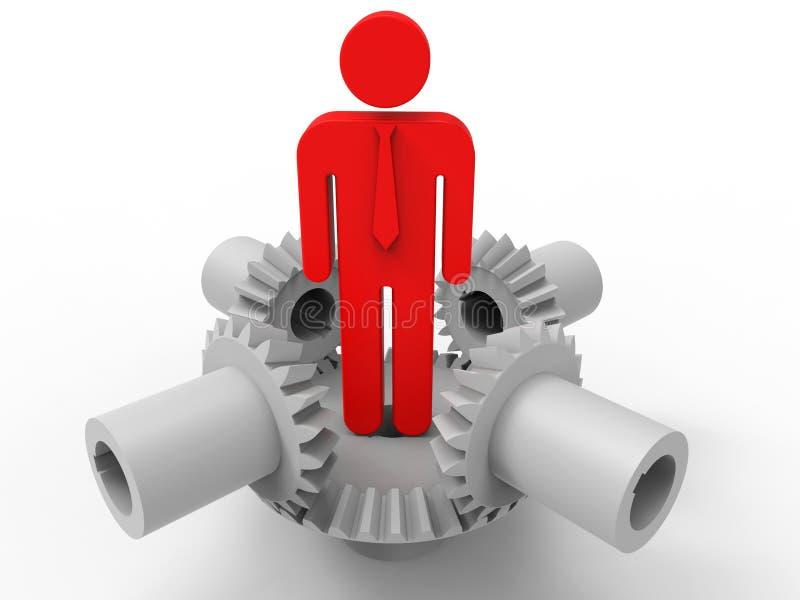 Conceito do coordenador 3D do homem de negócios ilustração stock