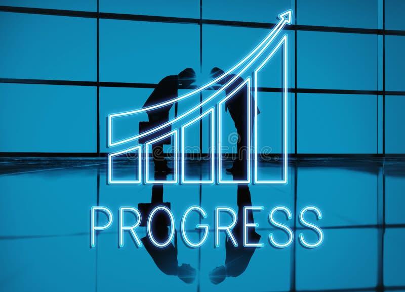 Conceito do crescimento da economia do progresso da estratégia ilustração do vetor
