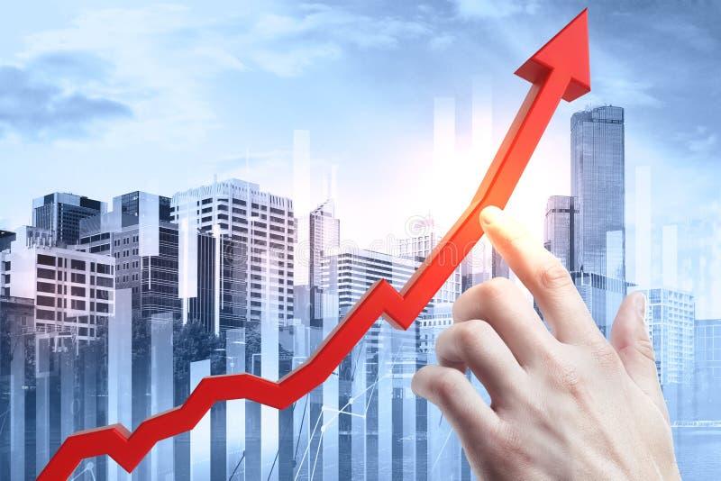 Conceito do crescimento e da finança foto de stock