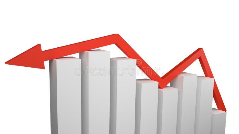 Conceito do crescimento econômico e do sucesso do mercado ilustração do vetor