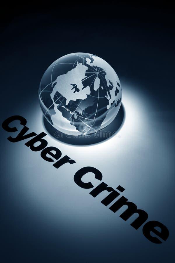 Conceito do crime do Cyber foto de stock