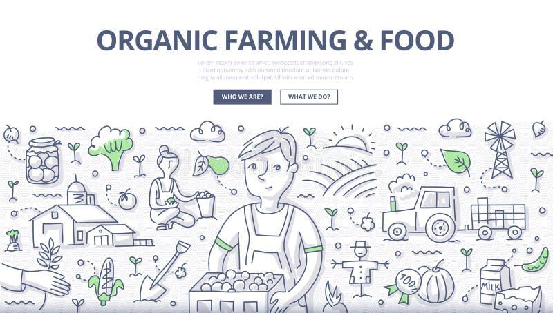 Conceito do cultivo orgânico & do alimento ilustração royalty free