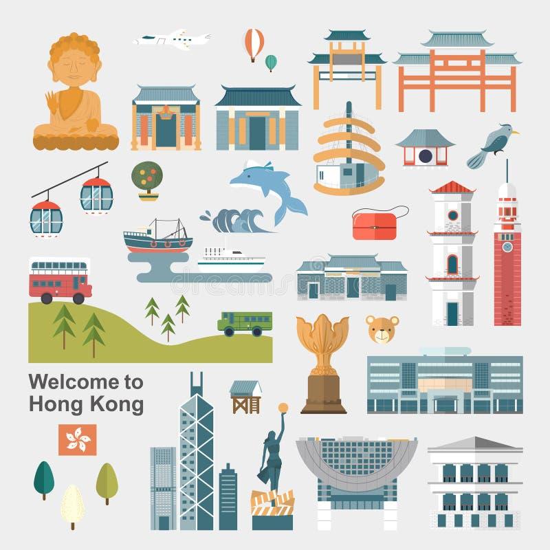 Conceito do curso de Hong Kong ilustração do vetor