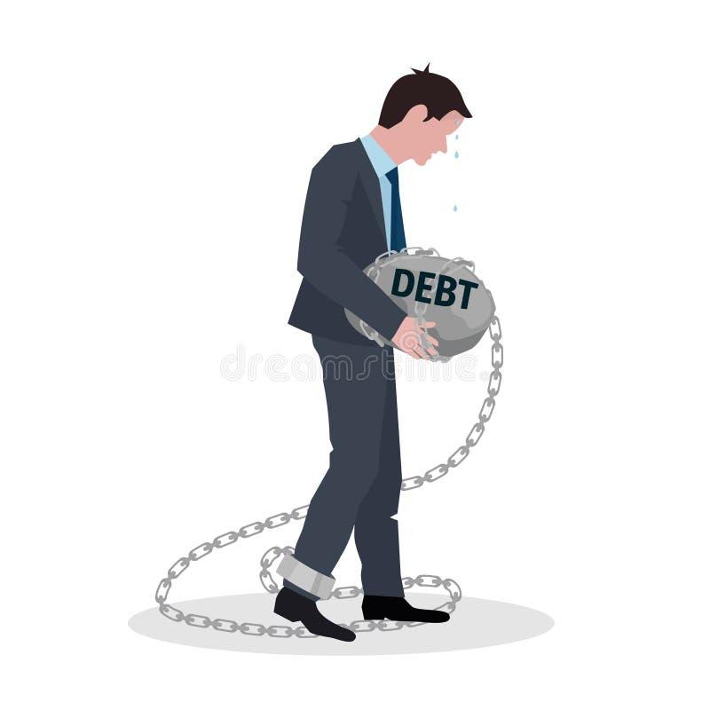 Conceito do débito do negócio ilustração stock