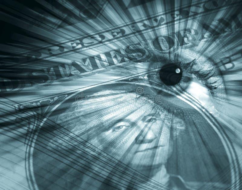 Conceito do dólar americano ilustração royalty free
