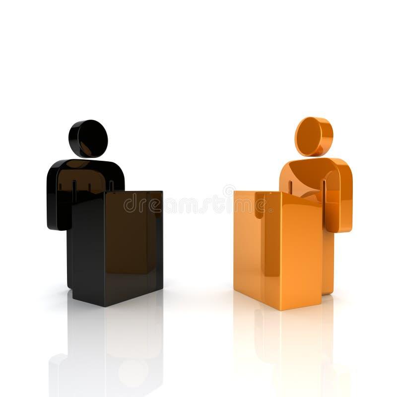 Conceito do debate ilustração royalty free