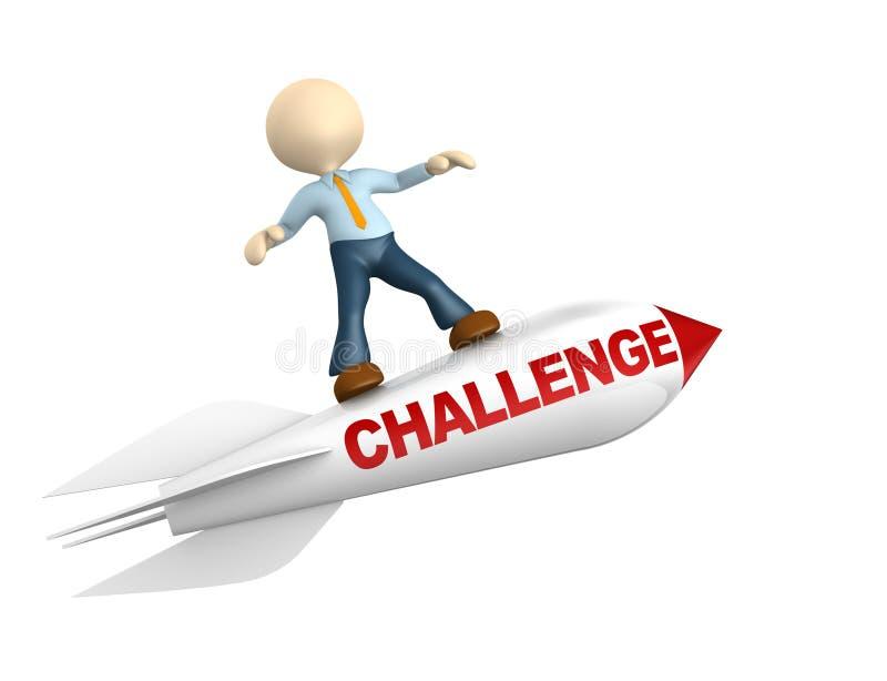 Conceito do desafio ilustração royalty free
