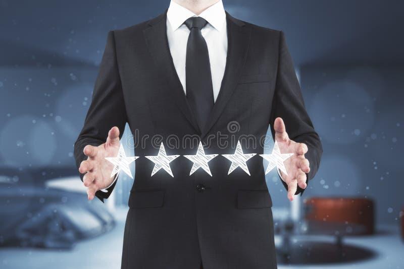 Conceito do desempenho e do feedback fotos de stock
