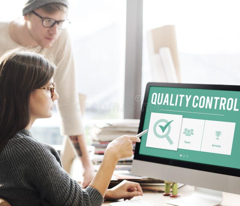 Conceito do desenvolvimento da melhoria do controle da qualidade foto de stock royalty free