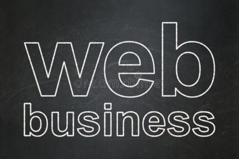 Conceito do desenvolvimento da Web: Negócio da Web no fundo do quadro ilustração do vetor