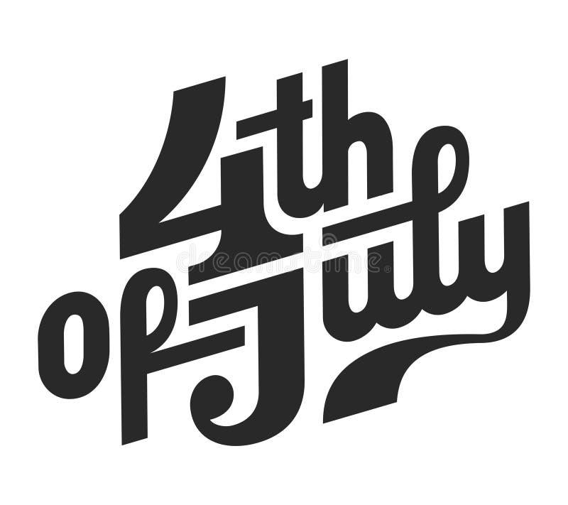 Conceito do Dia da Independência dos EUA do vintage ilustração royalty free