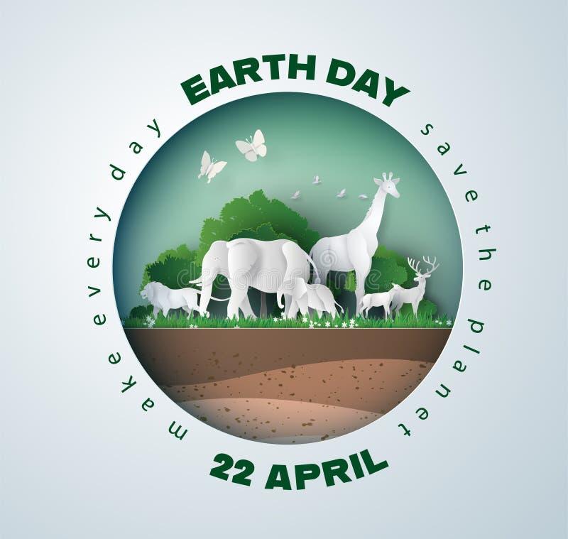 Conceito do Dia da Terra ilustração royalty free
