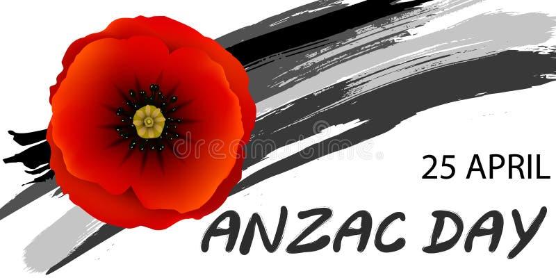 Conceito do dia de Anzac ilustração royalty free