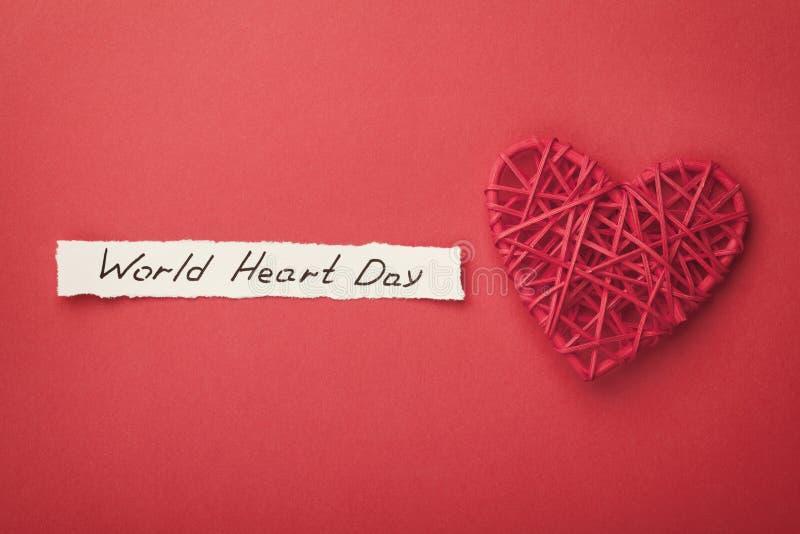 Conceito do dia do coração do mundo de cima de foto de stock
