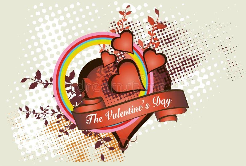 Conceito do dia do Valentim   ilustração royalty free