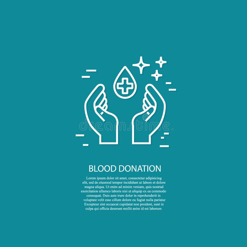 Conceito do dia do doador de sangue do mundo do vetor no branco ilustração royalty free