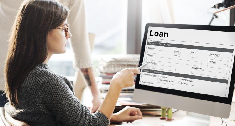 Conceito do dinheiro de hipoteca do pedido de empréstimo fotografia de stock royalty free