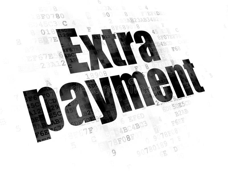 Conceito do dinheiro: Pagamento extra no fundo de Digitas ilustração royalty free