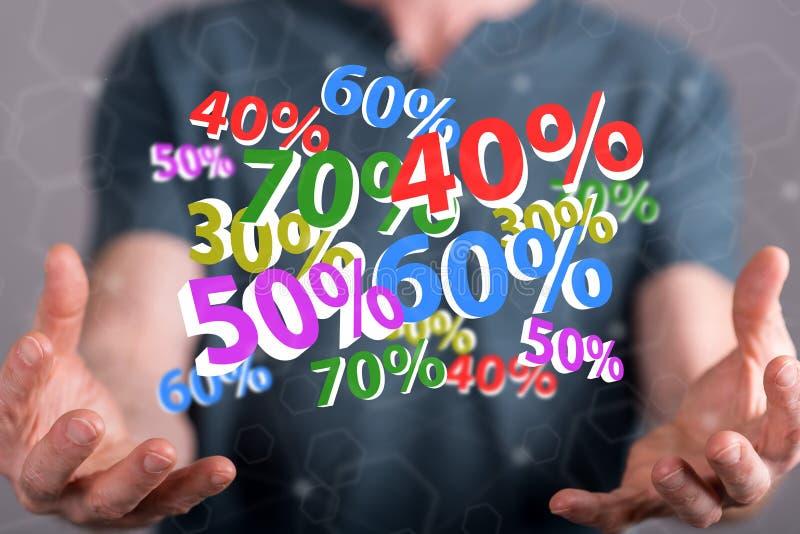 Conceito do disconto dos por cento foto de stock royalty free