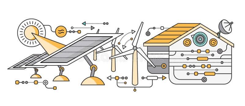 Conceito do dispositivo esperto da casa e de controle ilustração stock