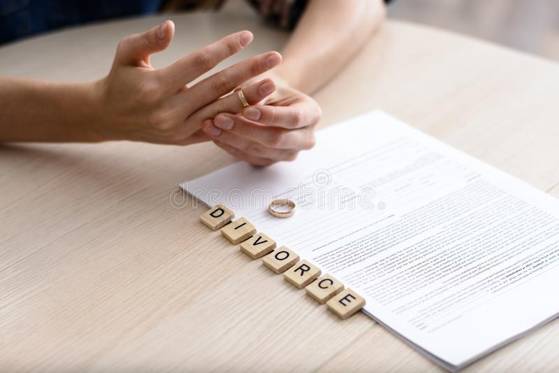 Conceito do divórcio fotografia de stock