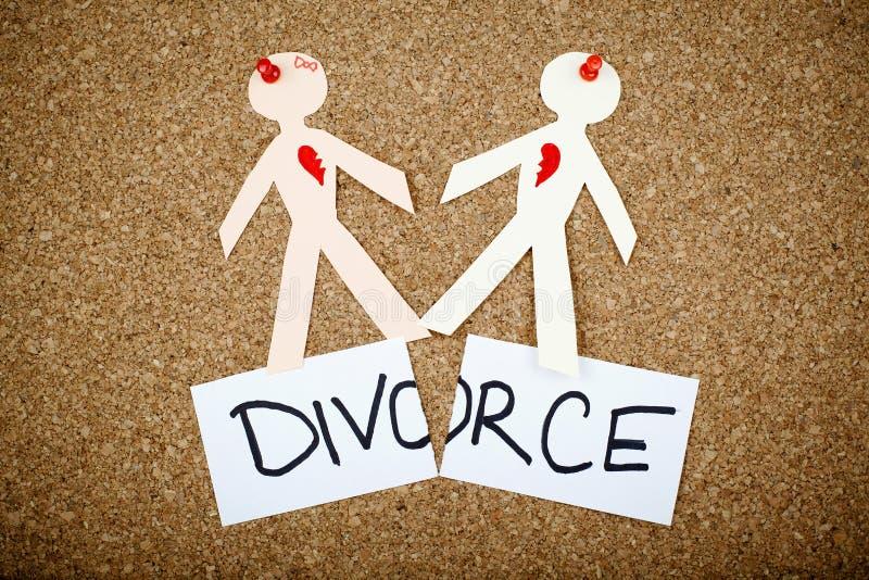 Conceito do divórcio imagem de stock