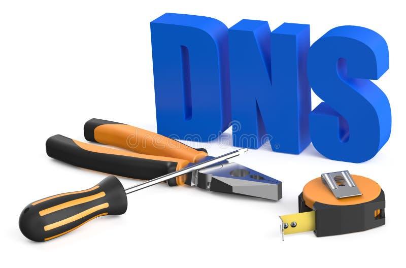 Conceito do DNS ilustração royalty free