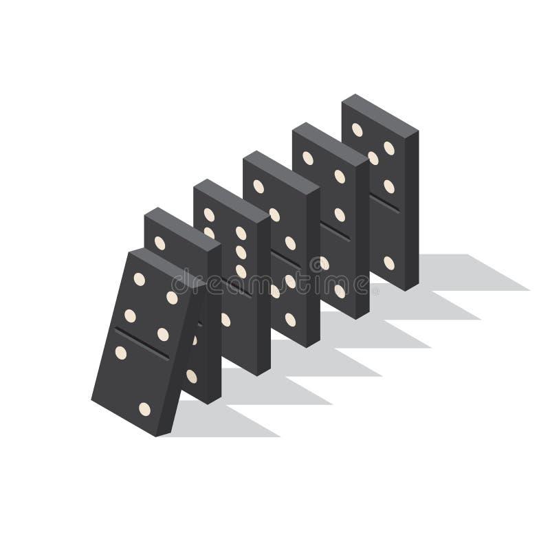 Conceito do efeito de dominó ilustração royalty free