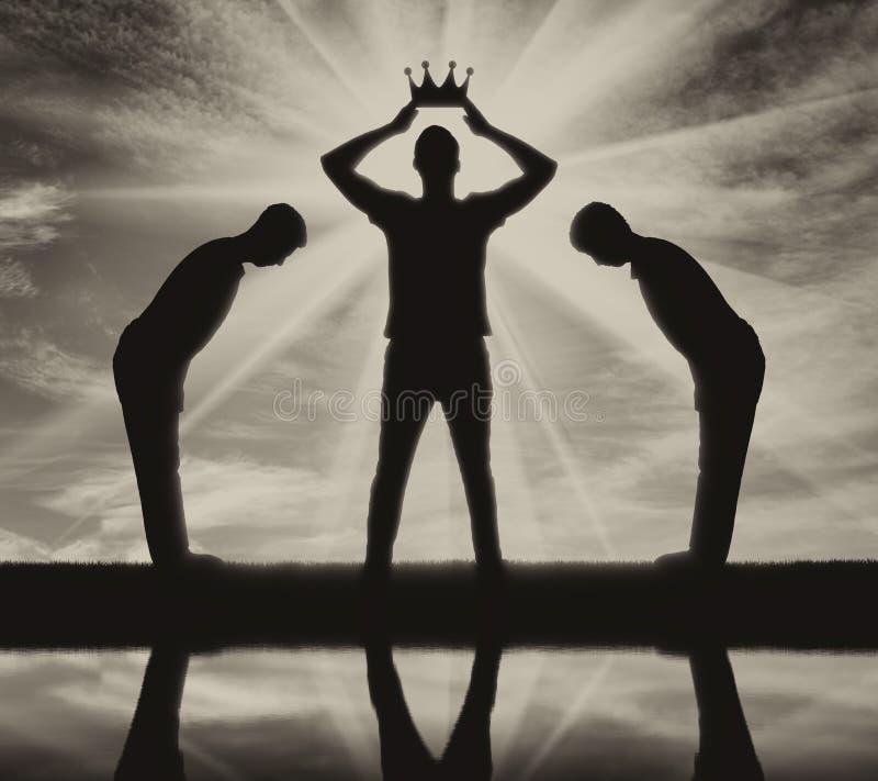 Conceito do egoismo e narcisístico ilustração royalty free