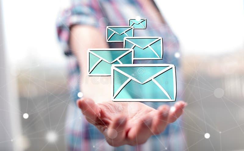 Conceito do email imagens de stock