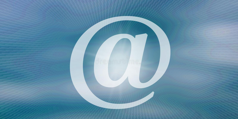 Conceito do email ilustração royalty free