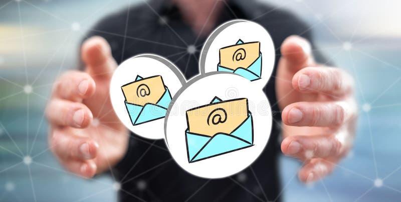 Conceito do email ilustração stock