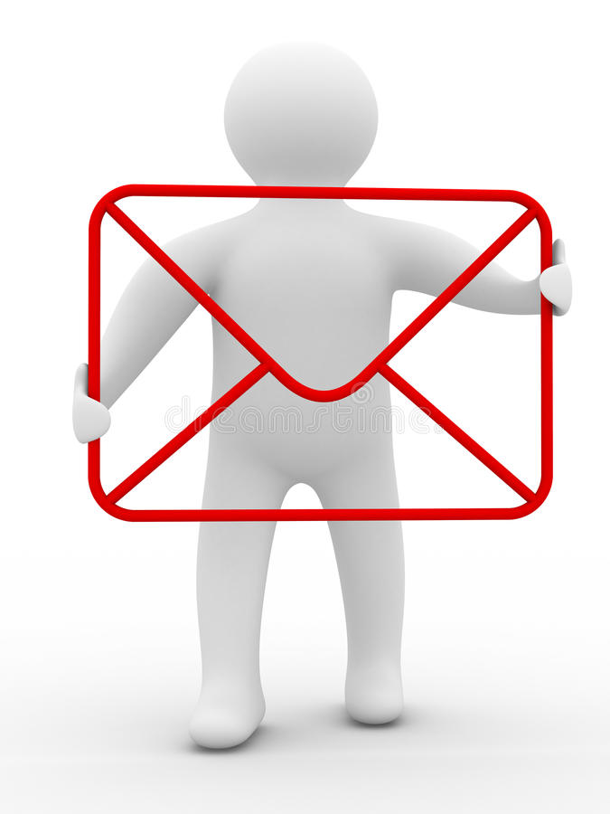 Conceito do email no fundo branco ilustração royalty free