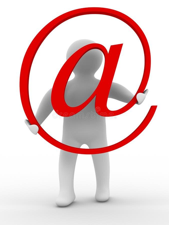 Conceito do email no fundo branco ilustração do vetor