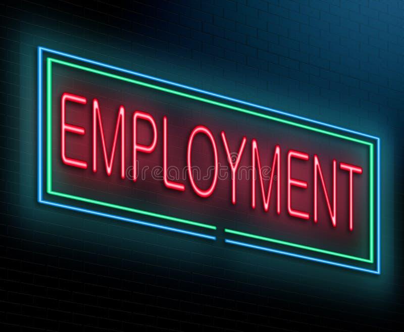 Conceito do emprego. ilustração stock