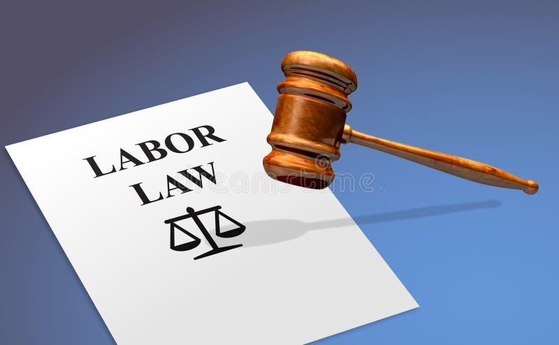 Conceito do emprego da lei laboral imagens de stock