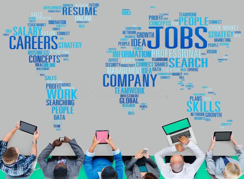 Conceito do emprego do recrutamento das carreiras da ocupação dos trabalhos imagem de stock royalty free
