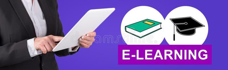 Conceito do ensino electrónico imagem de stock
