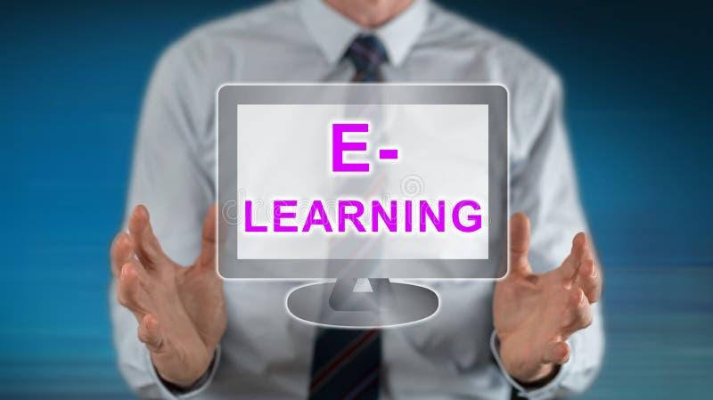 Conceito do ensino electrónico imagens de stock