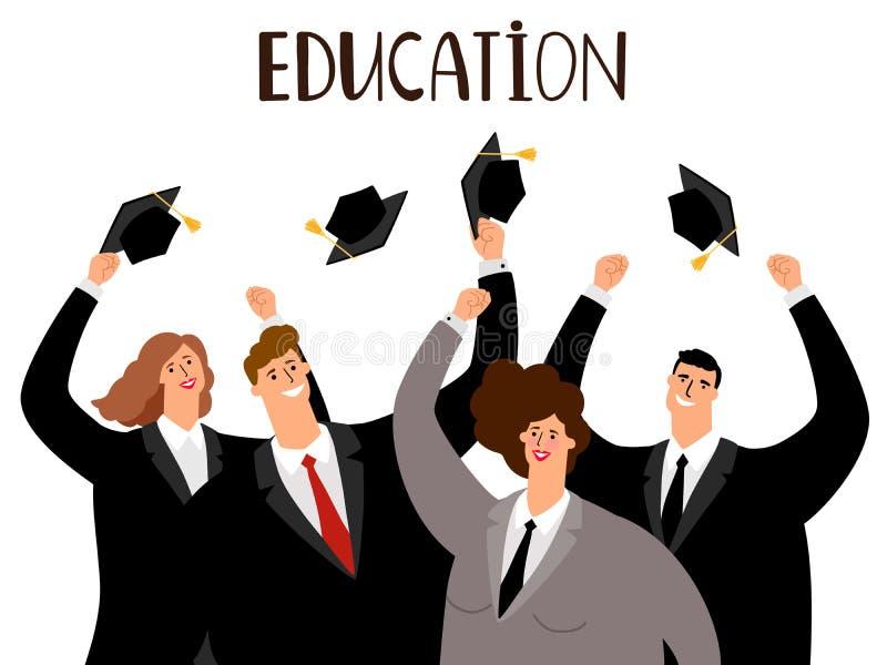 Conceito do ensino para adultos ilustração stock