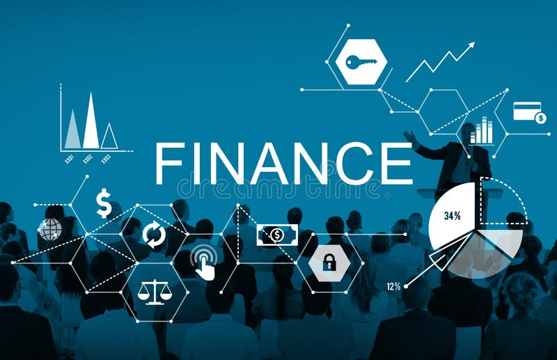 Conceito do equilíbrio de crédito do débito do dinheiro da finança fotografia de stock