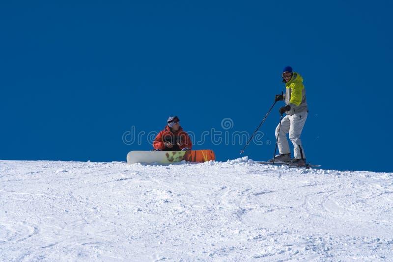 Conceito do esporte de inverno foto de stock