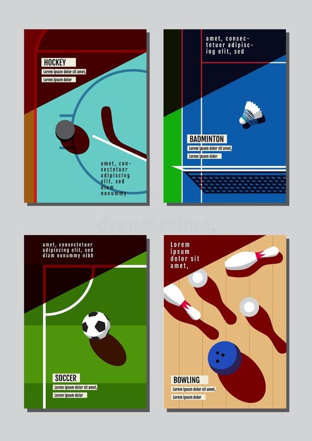 Conceito do esporte do projeto gráfico Fundo do material desportivo Vecto ilustração stock